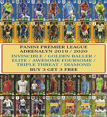 Panini Premier League Adrenalyn XL 2019/20 Elite Invincible Golden Baller cards