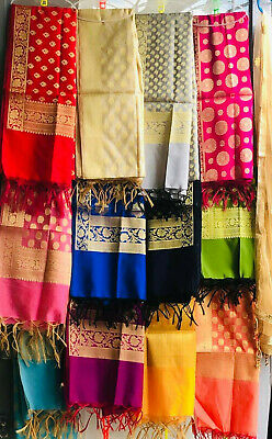 Indian Pure silk banarasi dupatta with 20 colour and 25 design