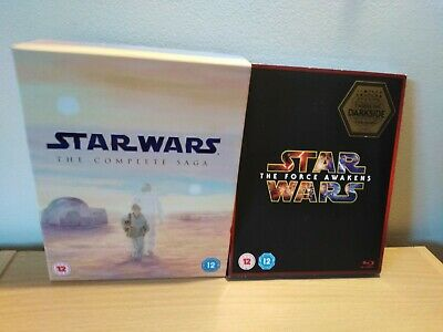 Star Wars The Complete Saga & Force Awakens Blu Ray UK Release