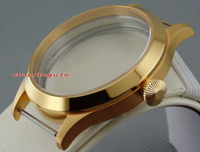 45mm Sapphire 316L Watch case fit 6497/6498 Seagull ST36 watch movement .