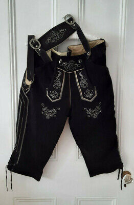 Gaudi-Leathers Men's Traditional Costume Lederhose size 54EU Black