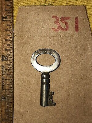 Antique Eagle Lock Co Steamer Trunk Chest Key Marked Z Footlocker Barrel -351