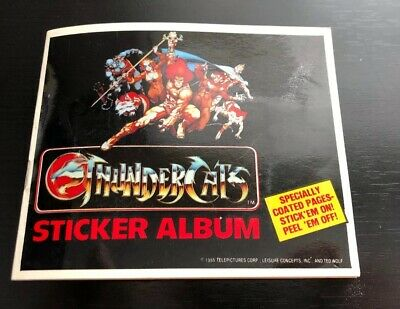 Thundercats Sticker Album 1985 Telepictures Corp. 11 Pages (Puffy Stickers In)
