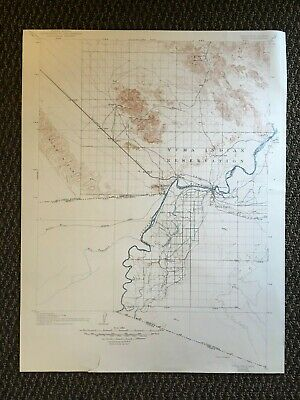 Vintage USGS Yuma Arizona California 1905 Topographic Map 1944