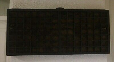 Antique Wooden Printers Tray Drawer Typesetting Miniature Collectors Shadow Box