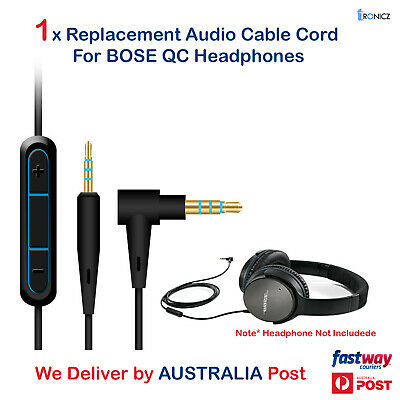 Replacement Audio Cable Wire w/Mic for BOSE QuietComfort QC25 QC35 Headphones