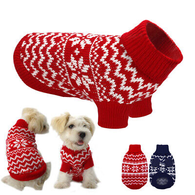 Soft Knitted Dog Turtleneck Sweater Puppy Cat Winter Clothes Warm Coat Jumpsuit