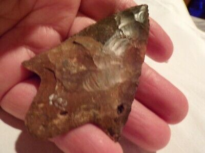 indian artifacts pre 1600. Georgia flint blade(arrowhead)