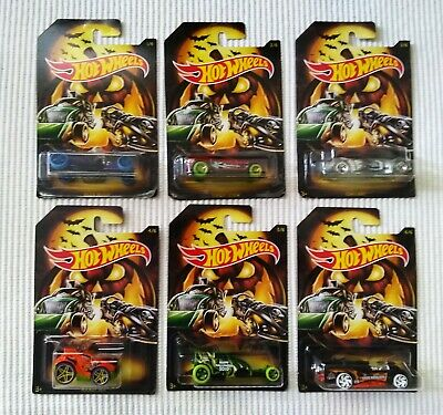 Hot Wheels NEW Halloween 2019 Set of 6 Toy Cars Unopened New!