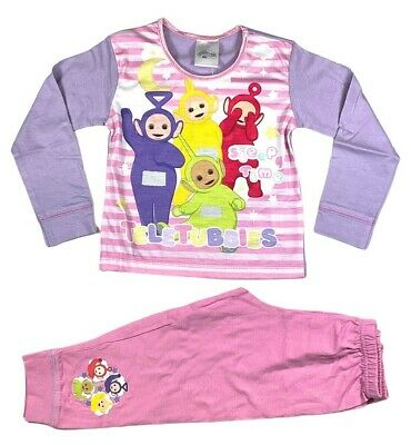 Official Telly Tubbies Pyjamas Pajamas Pjs Girls Toddlers Children's 18M 2 3 4