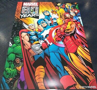 MARVEL COMICS 80TH ANNIVERSARY - CHARACTER COLLAGE POSTER - 8x14