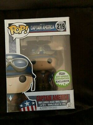 Funko Pop Marvel Wwii Captain America Spring Convention Exclusive Rare Mint