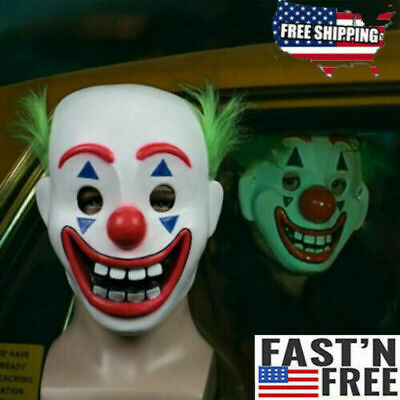 Pennywise It 2 Clown Mask Halloween Scary Costume Latex Stephen King's Movie Two