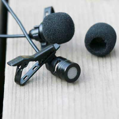 Recording Mic Microphone Vocal Video Lavalier Condenser Interview Dual Head