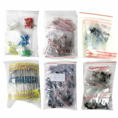 1390pcs/Set Electronic Components LED Diode Transistor Capacitor Resistance Tool