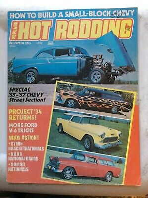 Dec 1975 Popular Hot Rodding NHRA U.S. Nationals Drag Racing Blue Max Gapp Nomad