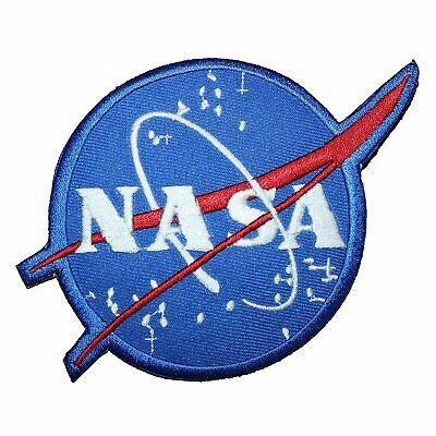 """NASA Space Program Vector 4.3""""x 3.1"""" logo Embroidered Iron On Patch"""