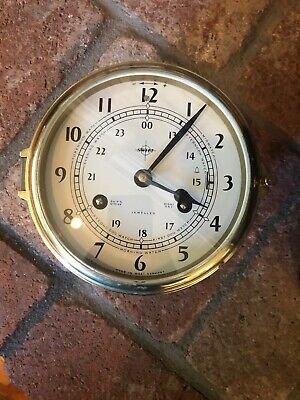 Vintage Swift Ships Clock Mariner Bell 8 Day Jeweled West Germany Brass WORKS!!