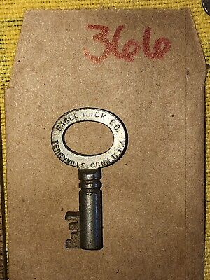 Antique Steamer Trunk Key Eagle Lock O ( Same Cut As Corbin T14 Yale E55 ) 366