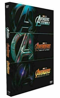Brand New Marvel Avengers 1-3 (1 2 3) DVD Trilogy 3-Movie Collection!