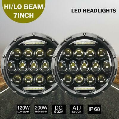 "2Pcs 7""inch 200W Round LED Replacement Headlights for Land Rover Defender 90&110"