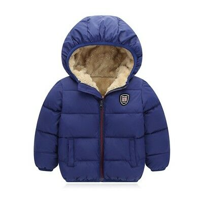 Casual Kids Baby Boys Girls Warm Jacket Coat Hooded Outwear Jacket Tops Clothes
