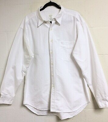 Old Navy Mens Classic Button Up Shirt Size Sz Large White Button DownCollar