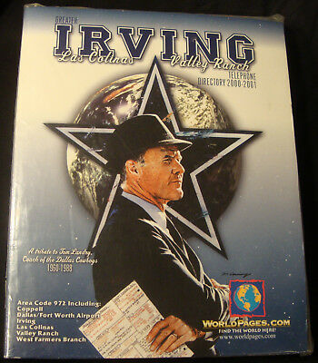 2000-2001 Irving Las Colinas Valley Ranch Phone Book DALLAS COWBOYS TOM LANDRY