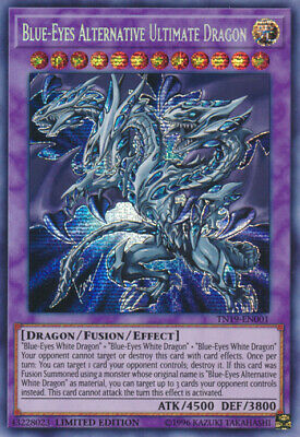 1x Blue-Eyes Alternative Ultimate Dragon - TN19-EN001 - Prismatic Secret Rare -