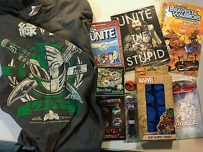Loot Crate May 2015 Unite Complete Box Power Rangers Avengers Rick & Morty 2XL