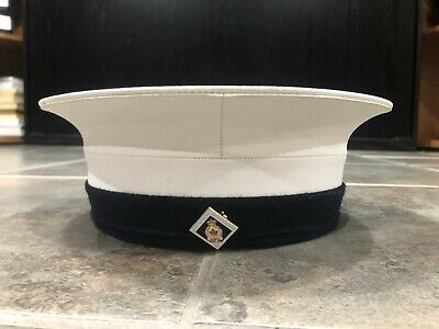 CANADIAN ARMED FORCES NAVY OFFICERS DRESS HAT SIZE 6 7/8 Nice