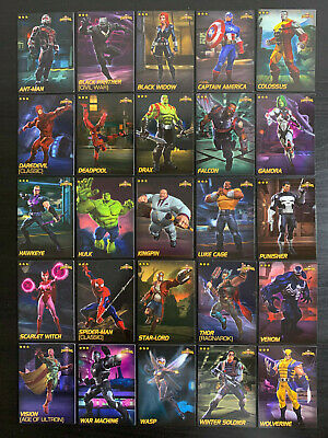 Marvel Contest of Champions Complete Nonfoil Common Set 25 Card Lot Dave Busters
