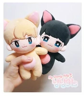 Kpop SHINEE LOVELY KITTY 91line KEY MinHo 15cm/6'' Toy Doll Plush Stuffed Fan