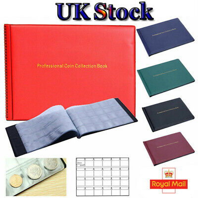 240 Coins Penny Money Case Album Pocket Collection Holders Storage £1Book Holder