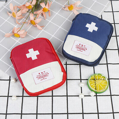 Mini Emergency Survival First Aid Kit Pack Travel Medical Sports Bag Case Po XM