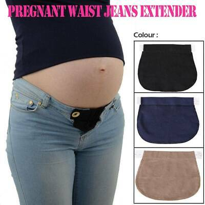 Maternity Pregnancy Waistband Belt Adjustable Elastic Waist Extender Pants AU