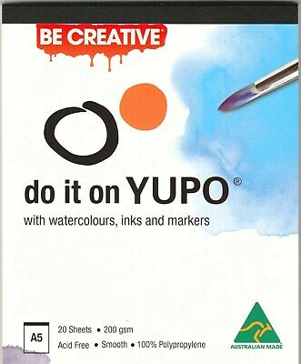 A5 Yupo Ultra Synthetic Paper Pad 200gsm 20 Sheets Alcohol Ink Watercolor Paints