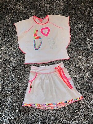 Excellent Condition - Mimpi Mim Pi White & Pink 2 Piece Set - Age 5 Years