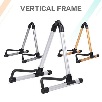 Guitar Floor Stand Holder A Frame Universal Fits Acoustic Electric Bass UK STOCK