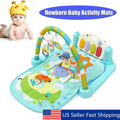Baby Floor Gym Fitness Playmat Play Music Piano Activity Toy XMAS Birthday Gift