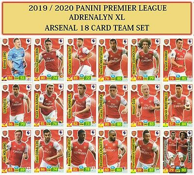 Panini Premier League Adrenalyn XL 2019/20 2020 Choose your 18 cards TEAM SET