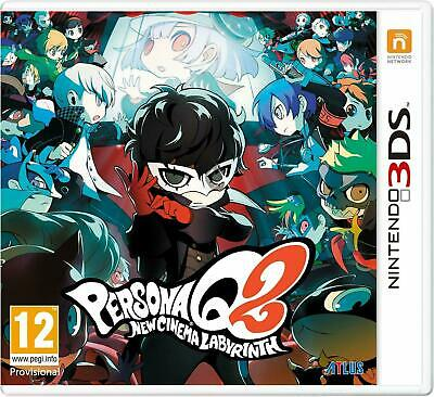Persona Q2 New Cinema Labyrinth & Art Book Nintendo 3Ds Sealed Uk Pal