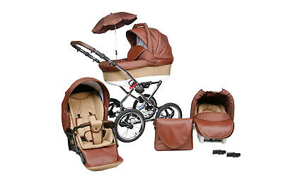 Baby Pram Stroller Buggy Pushchair Classic Retro 3in1 Travel system and car seat
