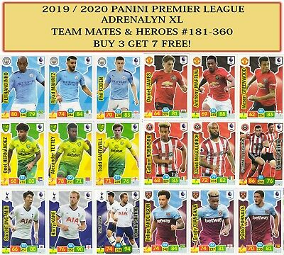 Panini Premier League Adrenalyn XL 2019/20 2020 TEAM MATE & HERO cards #181-360