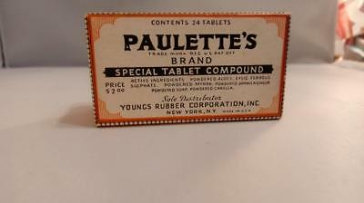 Paulette's Brand Special Tablet Compound - Box, Unused Contents - Quack Medicine