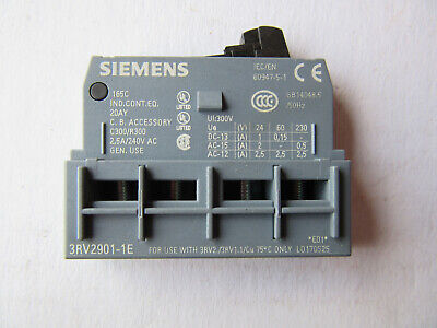 Siemens 3RV2901-1E Auxiliary Contact Block NEW!!! with Free shipping