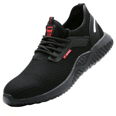 Lightweight Safety Shoes Steel Toe Cap Mens/Womens Sports Trainers Work Shoes