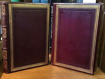 1862 A History of the Earth & Animated Nature by Oliver Goldsmith 2 vols leather
