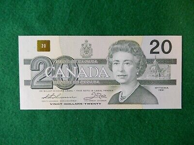 * Canadian 1991 series twenty dollar bank note, hard to find serial # AIX1167310