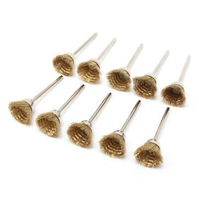 20Pc 25mm Brass Wire Brush Set Cup Grinder Wheel For Metal Rust Cleaning Buffing